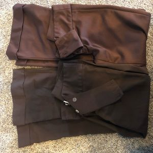 Pants - Lot of 2 pants. Dressy brown trousers